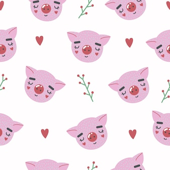 Lindo patrón sin costuras con cerdo bebé. impresión infantil creativa. creat para tela, textil.
