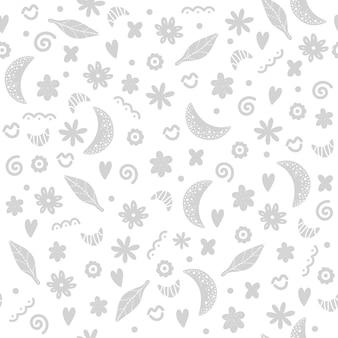 Lindo patrón sin costuras en estilo escandinavo