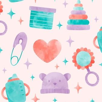 Lindo patrón de ducha de bebé