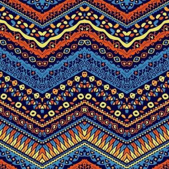 Lindo patrón étnico dibujado a mano