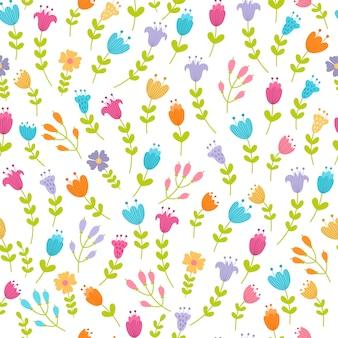 Lindo patrón floral sin fisuras. ilustración vectorial