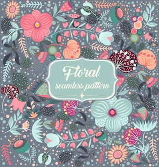 Lindo patrón floral sin fisuras