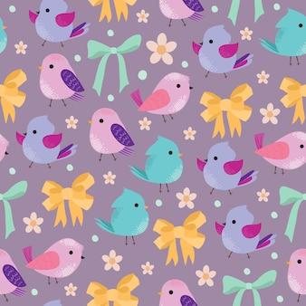 Lindo patrón con pájaros
