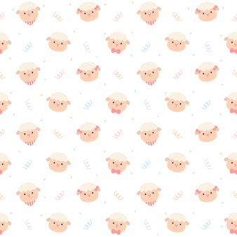 Lindo patrón de repetición sin fisuras de ovejas, papel tapiz, lindo patrón transparente
