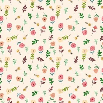 Lindo pequeño patrón floral transparente