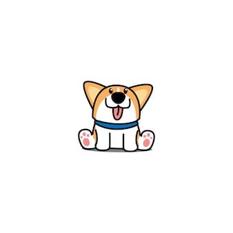 Lindo perrito corgi galés sentado