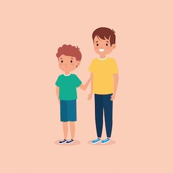 Lindo personaje de avatar de niños pequeños