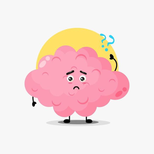 Lindo personaje de cerebro confundido