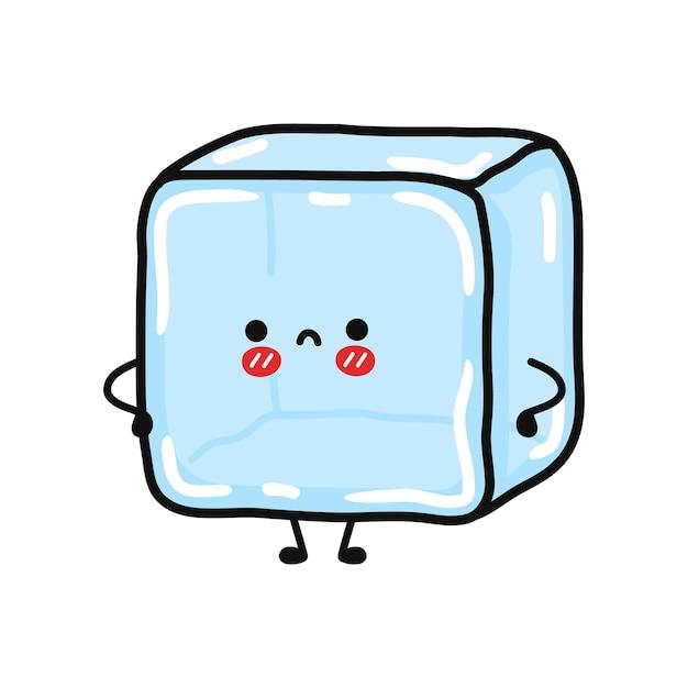 Lindo personaje de hielo triste