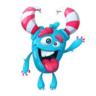 Lindo personaje de monstruo loco.