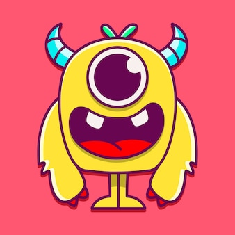 Lindo personaje de monstruo