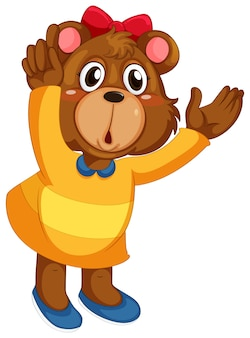 Un lindo personaje de oso