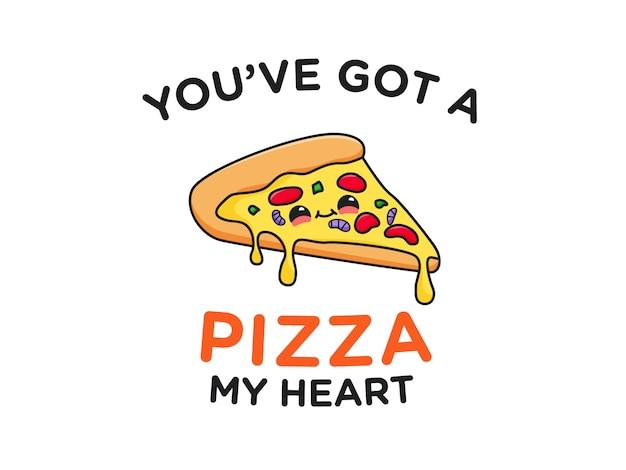 Lindo pizza comida juego de palabras