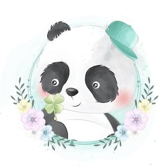 Lindo retrato de panda pequeño