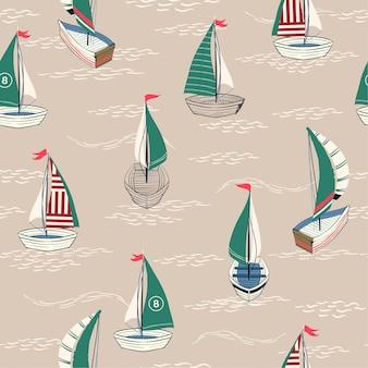 Lindo y retro verano de patrones sin fisuras