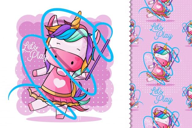 Lindo unicornio bailando ballet