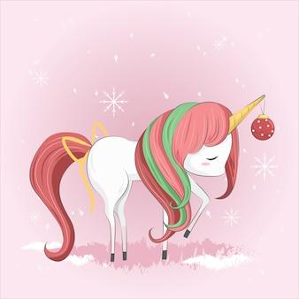 Lindo unicornio de navidad