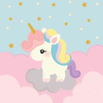Lindo vector de unicornio