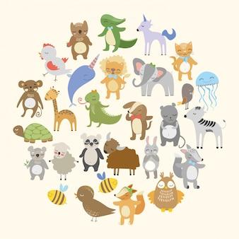 Lindos animales del bosque