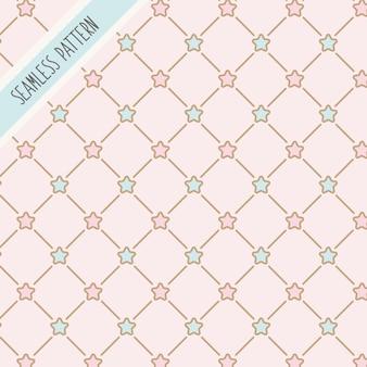 Lindos colores pastel estrellas de patrones sin fisuras