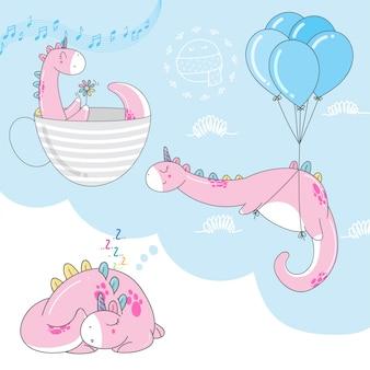 Lindos dibujos animados de dinosaurios