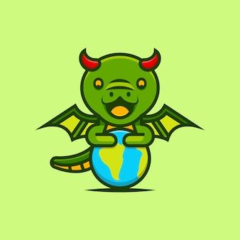Lindos dragones protegen la tierra