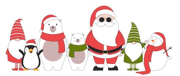 Lindos personajes navideños.