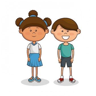 Lindos personajes de niños pequeños