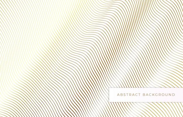 Línea abstracta concepto de ola de oro de fondo