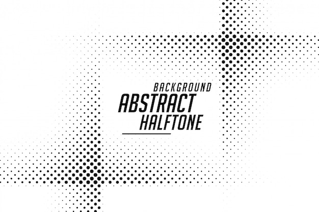 Línea abstracta estilo semitono fondo blanco y negro