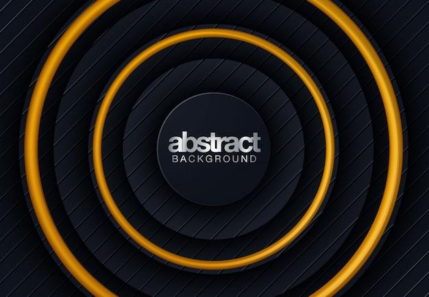 Línea abstracta fondo negro