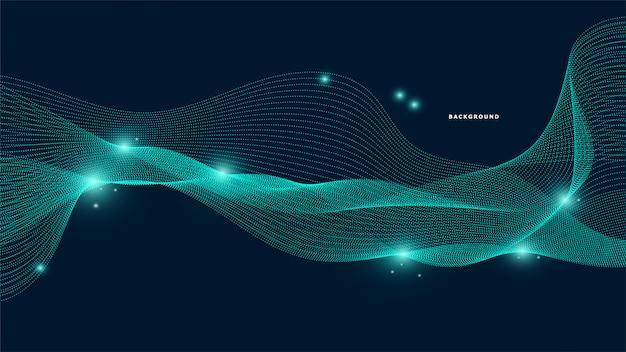 Línea abstracta fondo de onda