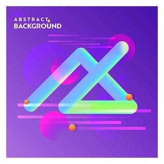 Línea abstracta fondo con vector de fondo púrpura