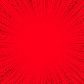 Línea abstracta rayos fondo rojo