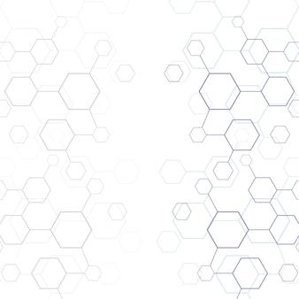 Línea abstracta textura geométrica del hexágono