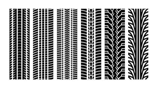 Línea de borde de la banda de rodadura del vector de la pista del neumático. protector de pista de carreras de neumáticos rueda de textura de coche automotriz.