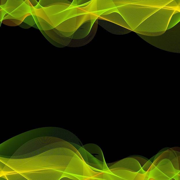 Línea colorida abstracta vector de fondo de onda