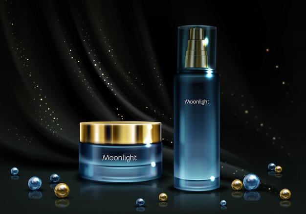 Línea de cosmética nocturna para mujeres.