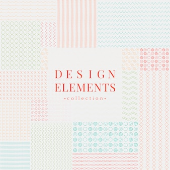 Línea divisora diseño elementos vectoriales colección.