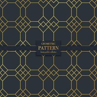 Línea dorada de lujo de fondo abstracto geométrico