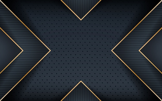 Línea dorada realista oscura con forma texturizada