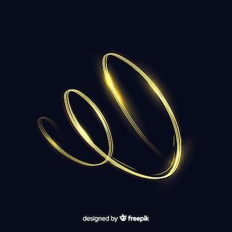 Línea espiral dorado brillante