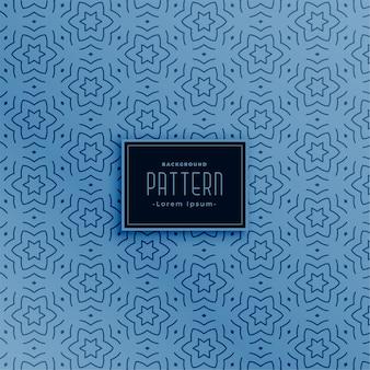 Línea estrella forma abstracta azul de patrones sin fisuras