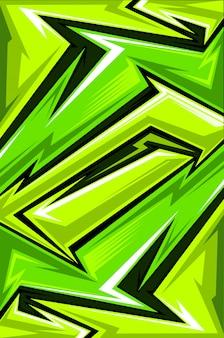 Línea de flecha abstracta de jersey deportivo