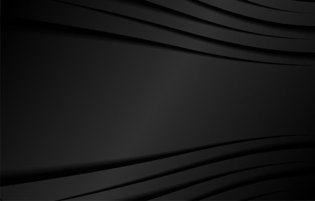 Línea fondo negro moderno.
