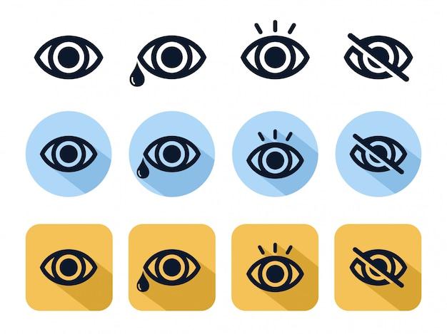 Línea de icono de ojo