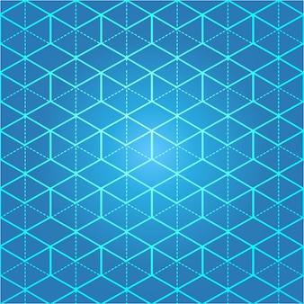 Línea isométrica cuadrícula azul