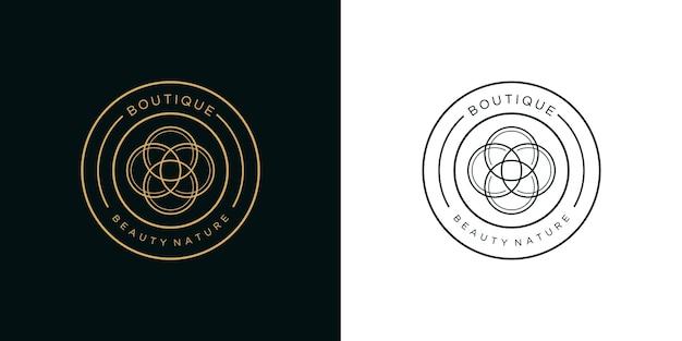 Línea de logotipo de boutique de belleza