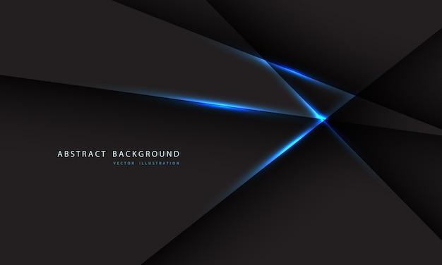 Línea de luz azul abstracta sobre fondo gris oscuro