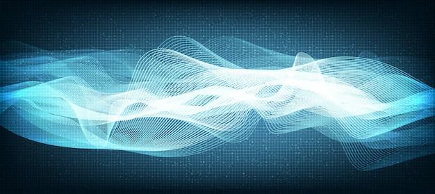 Línea de luz azul digital